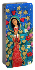 Guadalupe With Stars Portable Battery Charger
