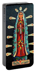 Guadalupe Wood Carving Portable Battery Charger