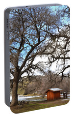 Portable Battery Charger featuring the photograph Guard Shack At Fort Tejon Lebec California by Floyd Snyder