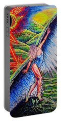 Portable Battery Charger featuring the painting Guardian #2 by Viktor Lazarev