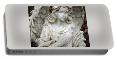 Portable Battery Charger featuring the photograph Battle Weary Guardian Angel by Belinda Lee