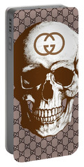 Gucci Poster Gucci Print Gucci Skull Brown Print Portable Battery Charger