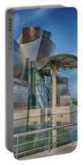 Guggenheim Museum Bilbao Spain Portable Battery Charger by James Hammond