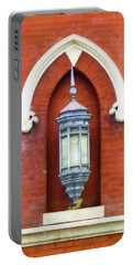 Portable Battery Charger featuring the painting Guiding Light At The Mother Church by Sandy MacGowan