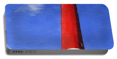 Portable Battery Charger featuring the painting Guiding Light by Lynne Reichhart