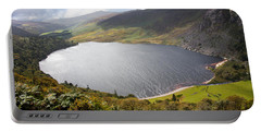 Guinness Lake In Wicklow Mountains  Ireland Portable Battery Charger by Semmick Photo