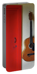 Guitar And Red Door Portable Battery Charger