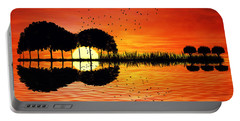 Guitar Island Sunset Portable Battery Charger