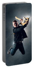 Guitarist Jumping High Portable Battery Charger