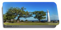 Gulf Coast Lighthouse Seascape Biloxi Ms 3663b Portable Battery Charger