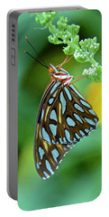 Gulf Fritillary On Butterfly Bush Portable Battery Charger