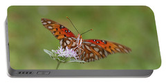 Gulf Fritillary On Elephantsfoot Portable Battery Charger
