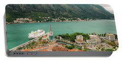 Gulf Of Kotor With Cruise Liner Portable Battery Charger