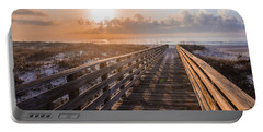 Gulf Shore Sunrise And Boardwalk Portable Battery Charger