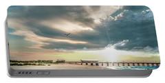 Gulf Shores Al Pier Seascape Sunrise 152c Portable Battery Charger