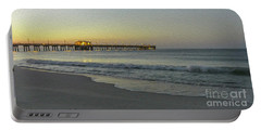 Gulf Shores Alabama Fishing Pier Digital Painting A82518 Portable Battery Charger