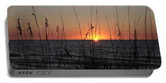 Gulf Sunset In Florida Portable Battery Charger