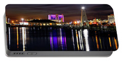 Portable Battery Charger featuring the photograph Gulfport Lighthouse - Mississippi - Harbor by Jason Politte