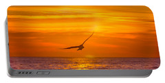 Gull At Sunrise Portable Battery Charger