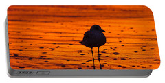 Gull Caught At Sunrise Portable Battery Charger