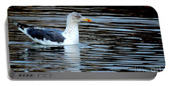 Gull On Winter's Pond  Portable Battery Charger