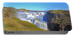 Gullfoss Falls Portable Battery Charger by Allan Levin