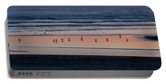 Gulls At Sunset Portable Battery Charger