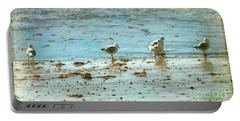 Gulls On The Edge Portable Battery Charger