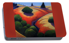 Portable Battery Charger featuring the painting Gully by Gary Coleman