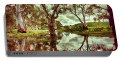 Portable Battery Charger featuring the photograph Gum Creek V2 by Douglas Barnard