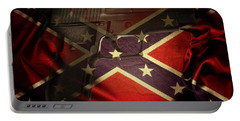 Gun And Flag Portable Battery Charger by Les Cunliffe