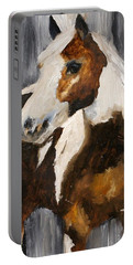 Portable Battery Charger featuring the painting Gunnar by Barbie Batson