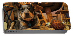 Portable Battery Charger featuring the photograph Gunner The Blue Heeler by Cricket Hackmann