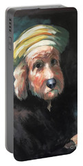 Gunther's Self Portrait Portable Battery Charger by Diane Daigle