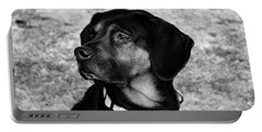 Gus - Black And White Portable Battery Charger