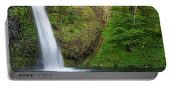 Portable Battery Charger featuring the photograph Gushing Horsetail Falls by Greg Nyquist