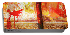 Portable Battery Charger featuring the photograph Gutter And Decayed Wall by Silvia Ganora