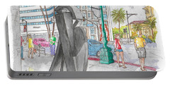 Guy Dill's Sculpture From The Belgian Suite, In Wilshire Blvd., Beverly Hills, California Portable Battery Charger