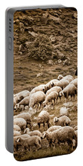 Portable Battery Charger featuring the photograph Guzelyurt, Turkey - Shepherd by Mark Forte