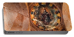 Portable Battery Charger featuring the photograph Guzelyurt, Turkey - Underground Church Dome by Mark Forte