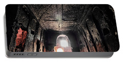 Portable Battery Charger featuring the photograph Guzelyurt, Turkey - Underground Church by Mark Forte