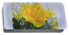 Portable Battery Charger featuring the photograph Gypsophila And The Rose. by Terence Davis