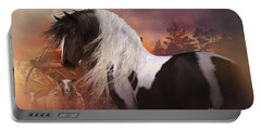 Portable Battery Charger featuring the digital art Gypsy On The Farm by Shanina Conway
