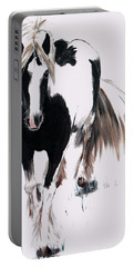 Portable Battery Charger featuring the painting Gypsy Vanner by Isabella F Abbie Shores FRSA