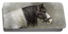 Gypsy Vanner Portable Battery Charger by Kathy Russell