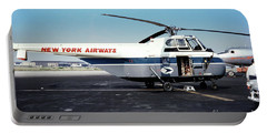 H406a, New York Airways, Skybus At Idlewild International Airpor Portable Battery Charger by Wernher Krutein