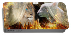 Ha-shilush Ha-kadosh  Portable Battery Charger by Dolores Develde