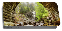 Portable Battery Charger featuring the photograph Hadlock Falls Under Carriage Road Arch by Jeff Folger