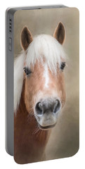 Portable Battery Charger featuring the photograph Haflinger by Robin-Lee Vieira