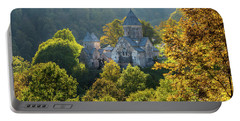Haghartsin Monastery With Trees In Front At Autumn, Armenia Portable Battery Charger